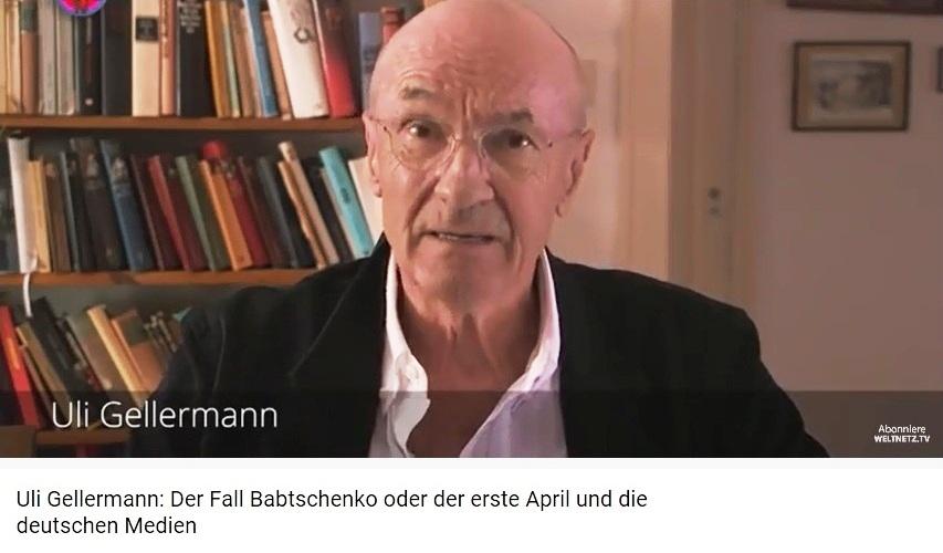 Rationalgalerie.de - Uli Gellermann: Der Fall Babtschenko oder der erste April und die deutschen Medien - So ticken deutsche Medien: Die Verwechslung von Ostern mit dem 1. April, beste Grüße, Uli Gellermann