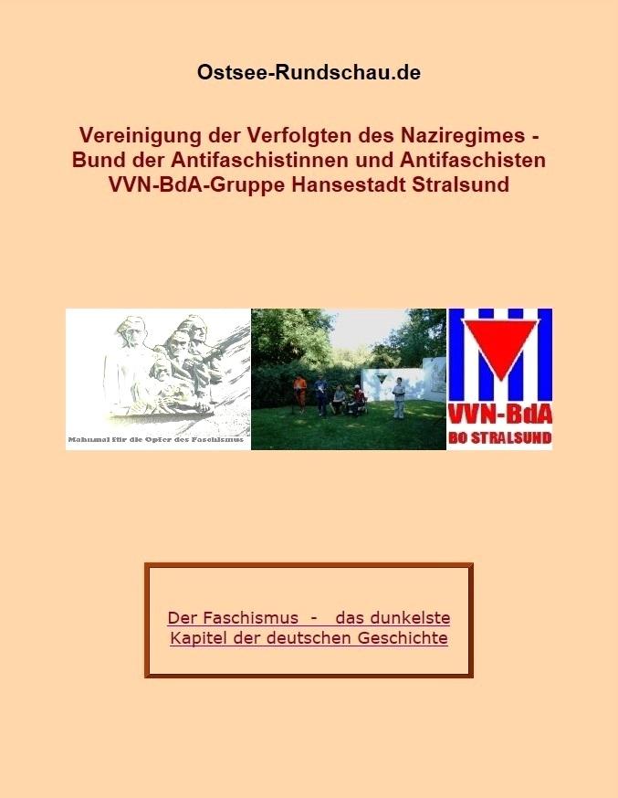 Vereinigung der Verfolgten des Naziregimes - Bund der Antifaschistinnen und Antifaschisten - VVN-BdA-Gruppe Hansestadt Stralsund auf Ostsee-Rundschau.de