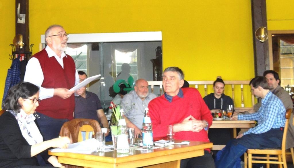 Veranstaltung mit Rainer Rupp in Prohn in der Nähe der Hansestadt Stralsund, Landkreis Vorpommern-Rügen