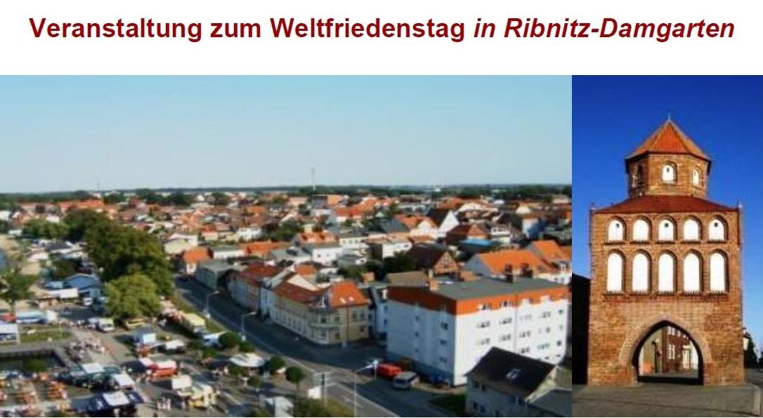 Veranstaltung 2018 mit Professor Dr. Wolfgang Methling, ehemaliger Umweltminister und ehemaliger stellvertretender Ministerpräsident von Mecklenburg-Vorpommern, zum Weltfriedenstag in Ribnitz-Damgarten