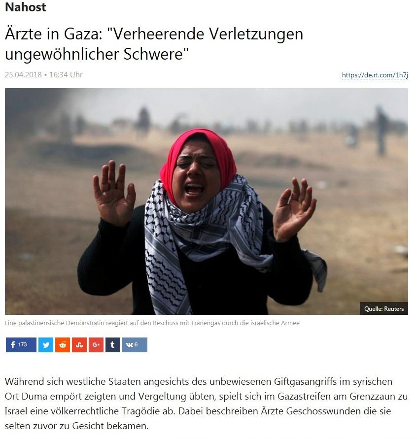 Nahost - Ärzte in Gaza: 'Verheerende Verletzungen ungewöhnlicher Schwere'