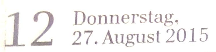 Ribnitz-Damgartener Ausgabe der Ostsee-Zeitung vom 27.August 2015 Lokalteil Seite 12