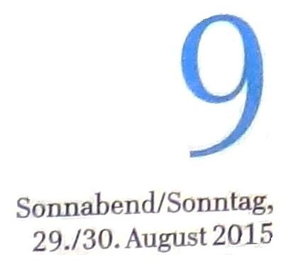 Ribnitz-Damgartener Wochenendausgabe der Ostsee-Zeitung vom 29./30.August 2015 Lokalteil Seite 9