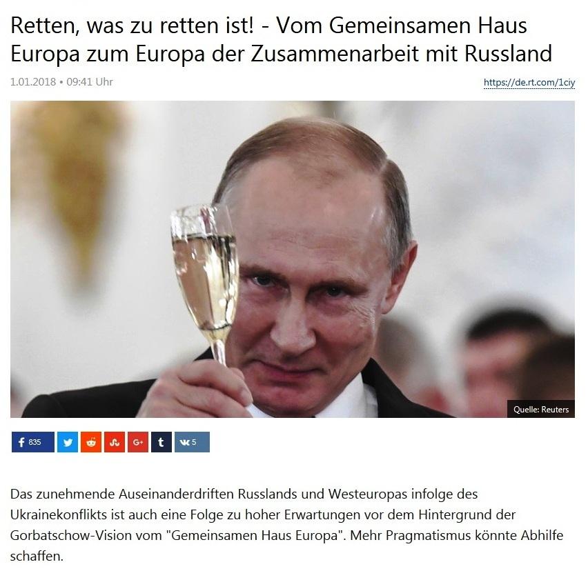Retten, was zu retten ist! - Vom Gemeinsamen Haus Europa zum Europa der Zusammenarbeit mit Russland