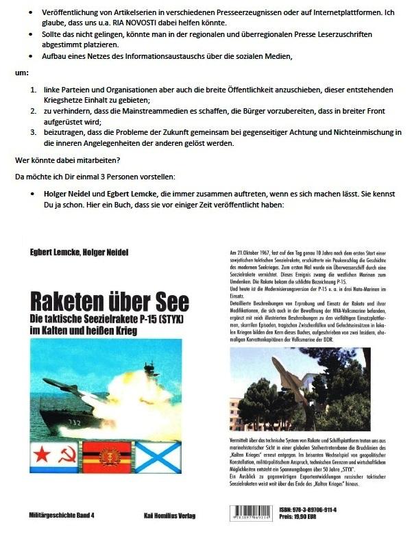 Vorschlag zur Zusammenarbeit - Aus dem Posteingang von Siegfried Dienel vom 15.02.2021 - Abschnitt 3 von 5 Abschnitten
