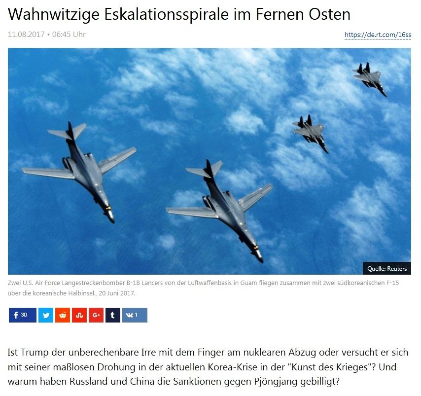 Wahnwitzige Eskalationsspirale im Fernen Osten - Von Rainer Rupp