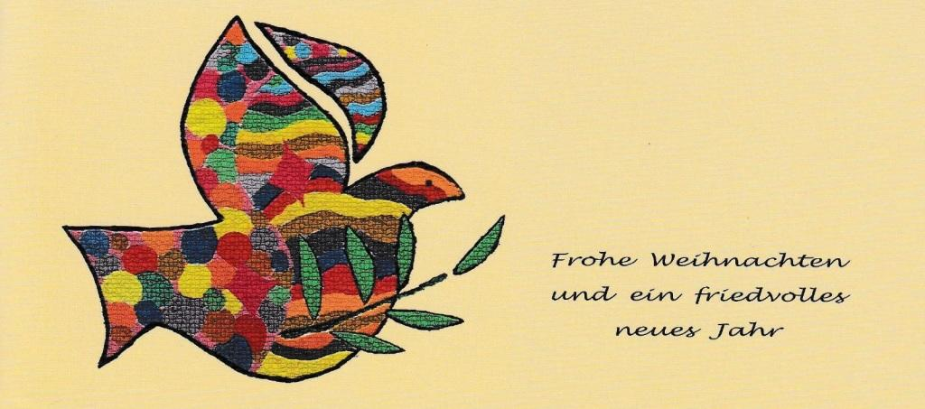 Weihnachts-und Neujahrsgruß an die Mitstreiterinnen und Mitstreiter von Waltraud Tegge