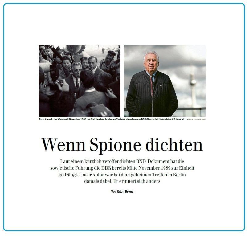 Aus dem Posteingang - Wenn Spione dichten - Von Egon Krenz - Berliner Zeitung - Seite 9 - 4.Mai 2020
