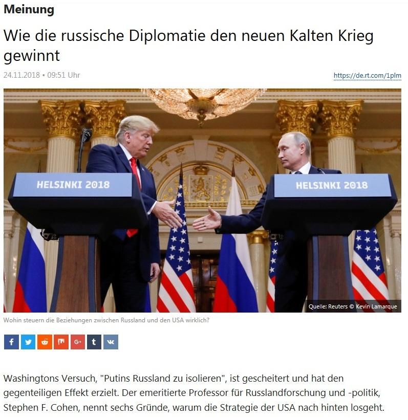 Meinung - Wie die russische Diplomatie den neuen Kalten Krieg gewinnt