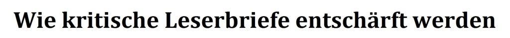 Wie kritische Leserbriefe entschärft werden - Leserbrief zu OZ-Beiträgen zum 100. Todestag von Rosa Luxemburg und Karl Liebknecht