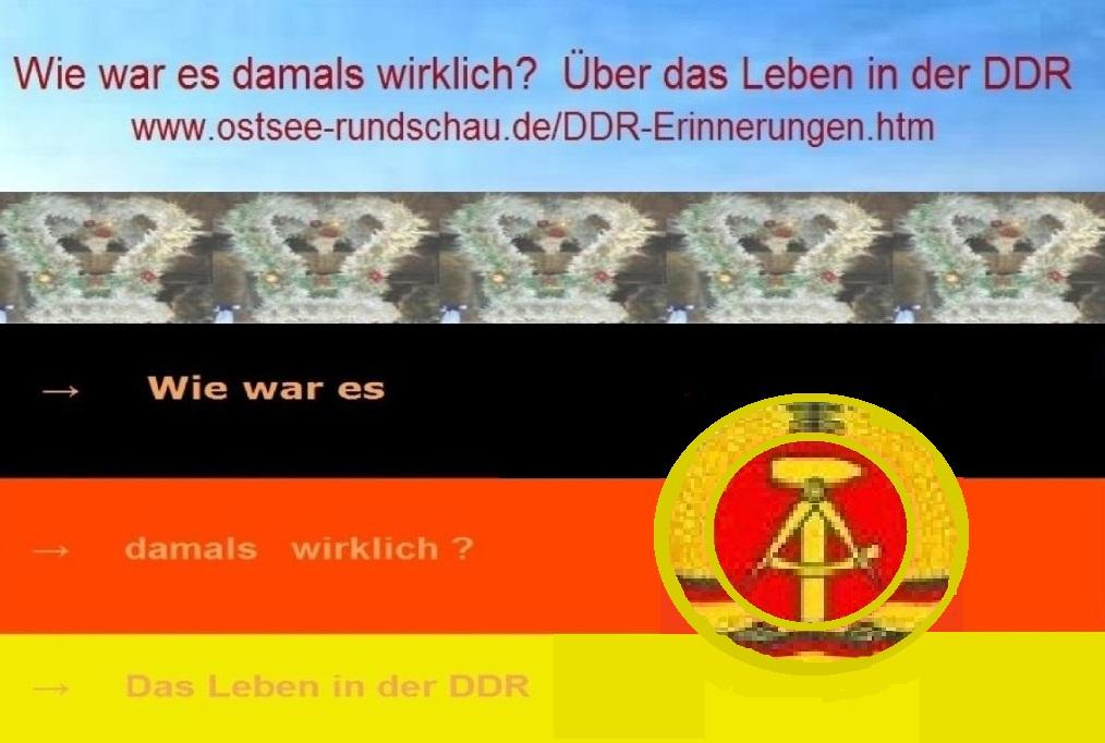 Das Leben in der DDR - Wie war es damals wirklich? DDR-Erinnerungen auf Ostsee-Rundschau.de