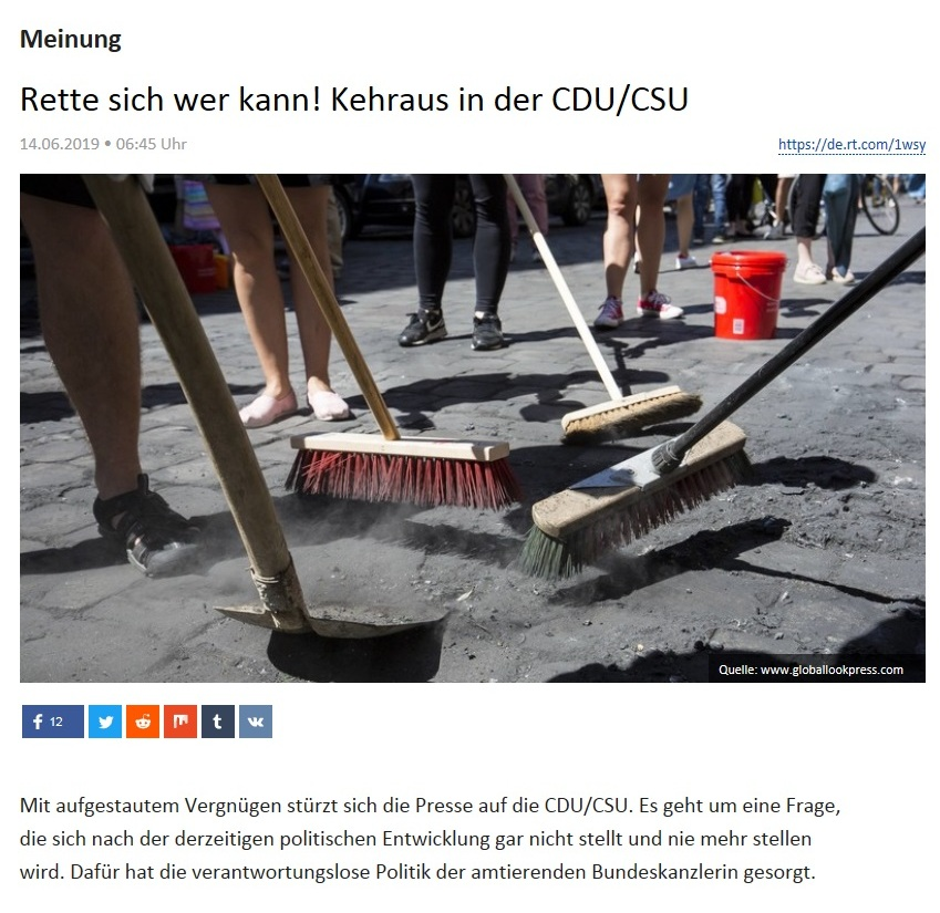 Meinung - Rette sich wer kann! Kehraus in der CDU/CSU