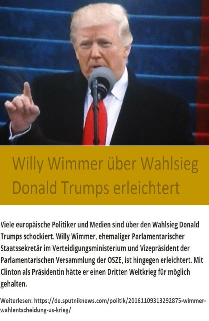 Willy Wimmer über Wahlsieg Donald Trumps erleichtert