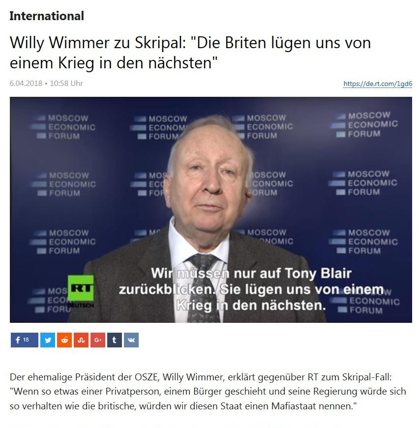 International - Willy Wimmer zu Skripal: 'Die Briten lügen uns von einem Krieg in den nächsten'