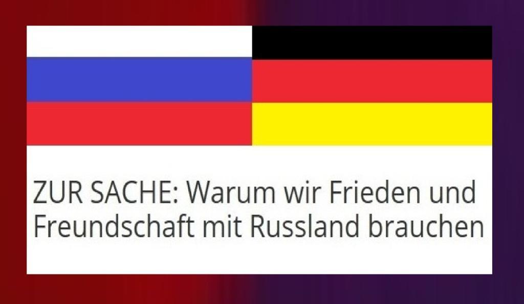 Zur Sache: Warum wir Frieden und Freundschaft mit Russland brauchen - TV-Diskussion zum Buch von Matthias Platzeck, Oskar Lafontaine, Daniela Dahn und vielen anderen