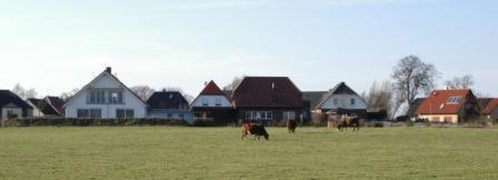 Blick auf die Eigenheimsiedlung Achterberg in Klockenhagen. Foto: Eckart Kreitlow