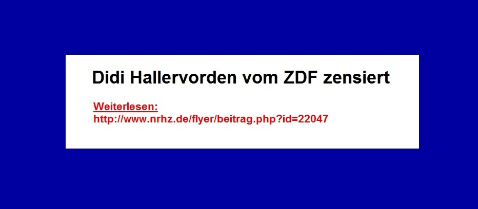 ZDF-Zensur bei Didi Hallervorden.