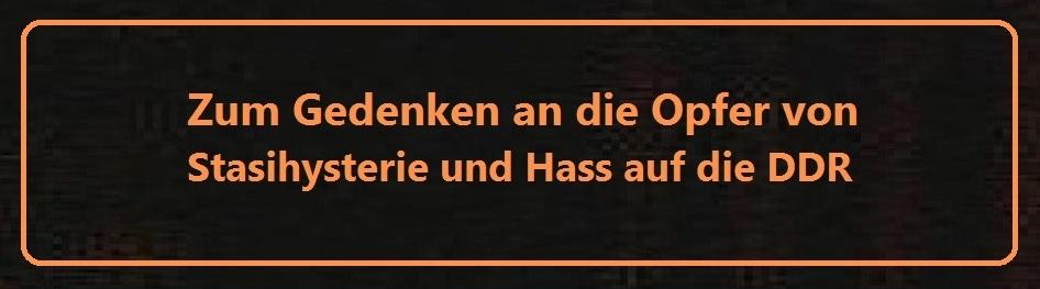Zum Gedenken an die Opfer von Stasihysterie und DDR-Hass auf Ostsee-Rundschau.de