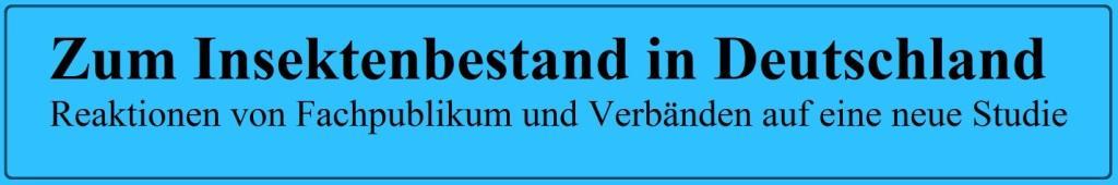 Zum Insektenbestand in Deutschland - Reaktionen von Fachpublikum und Verbänden auf eine neue Studie - Wissenschaftliche Dienste Deutscher Bundestag - PDF